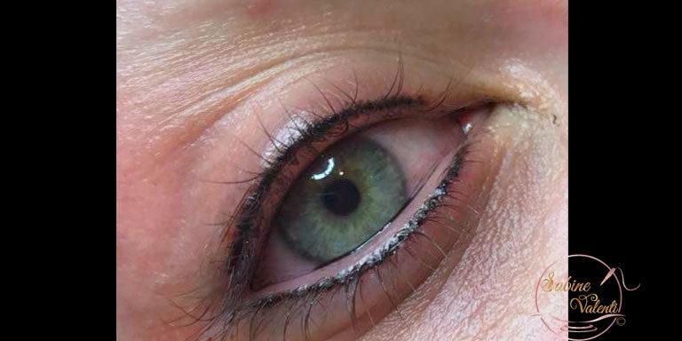 maquillage permanent des yeux traits supérieur et inférieur Sabine Valenti