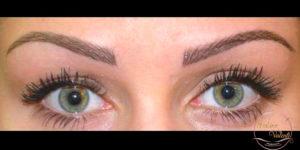 résultat après maquillage permanent des sourcils Sabine Valenti