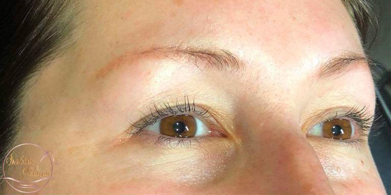 avant maquillage permanent des sourcils Sabine Valenti