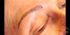 Reconstruction des sourcils avec maquillage permanent Sabine Valenti