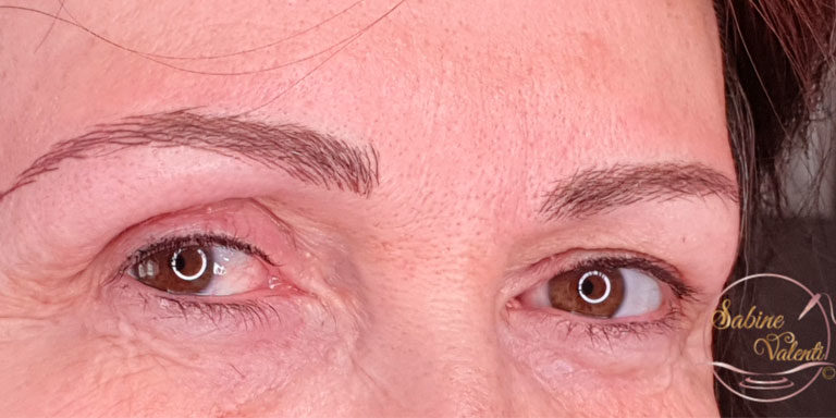Reconstruction de sourcils sabine valenti maquillage permanent