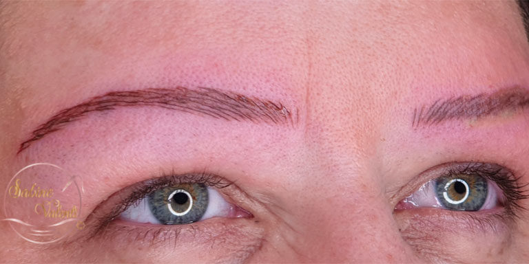 reconstruction maquillage permanent sourcils apres sabine valenti