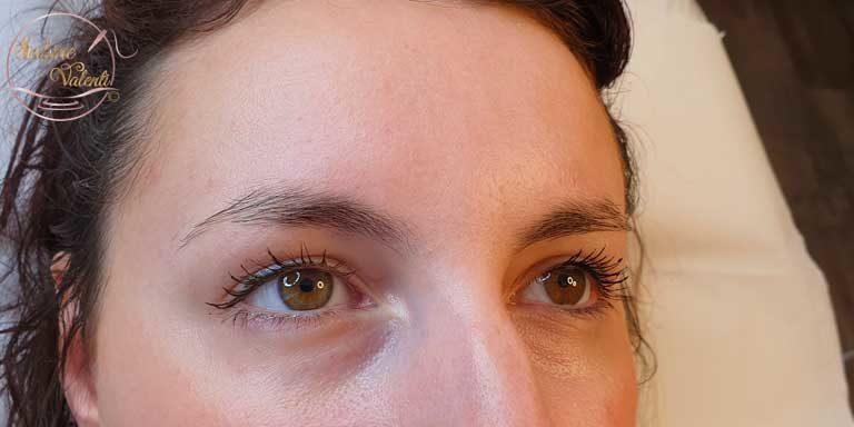 Avant remplissage des sourcils sabine valenti maquillage permanent